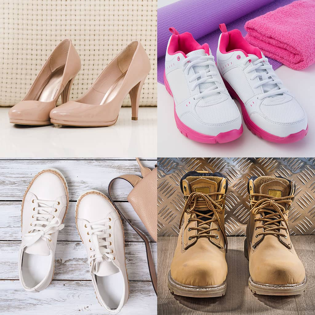 Four types of shoes